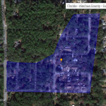 Satellite map Kimberly Woods neighborhood Gainesville FL